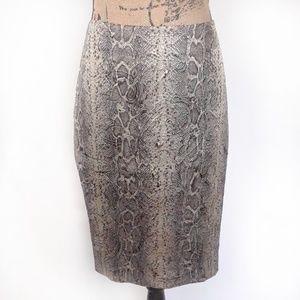 ISDA & Co Snake Pattern Pencil Skirt Size 6
